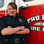 Two Rock Fire Chief Lori Anello at the firehouse on March 28, 2012.