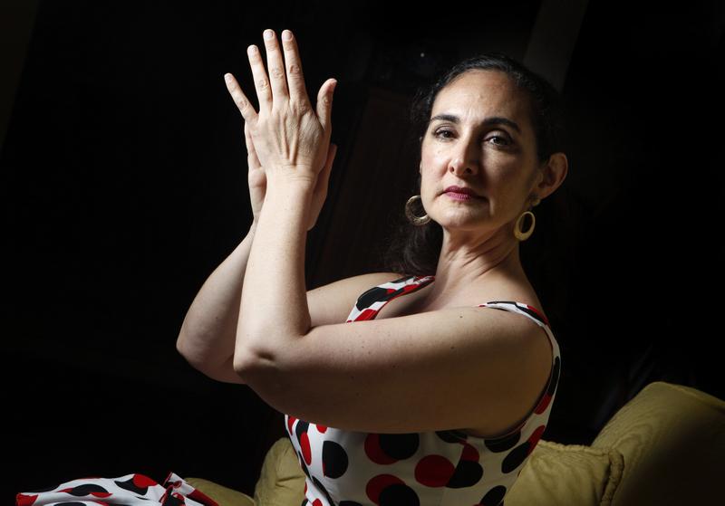 Sara Zanolini, Flamenco dancer and teacher. (Beth Schlanker / Press Democrat)