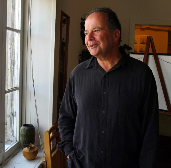 Murray Rockowitz in his downtown Petaluma studio. (Jeff Kan Lee / Press Democrat)
