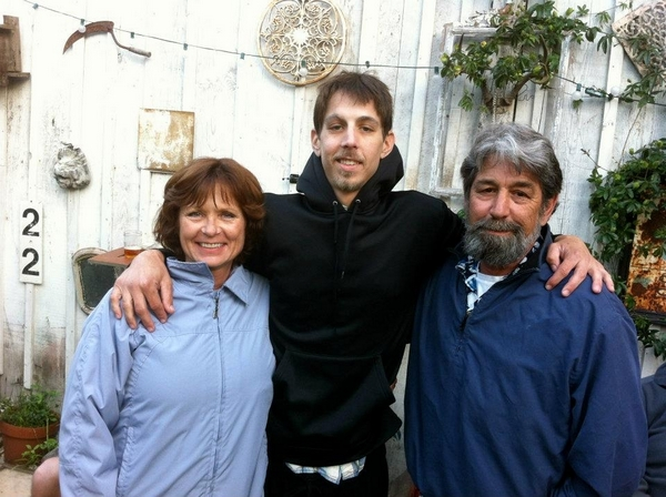 Travis Schwarz with his parents, D'Ann Moore and Ray Schwarz. (Photo courtesy of D'Ann Moore)