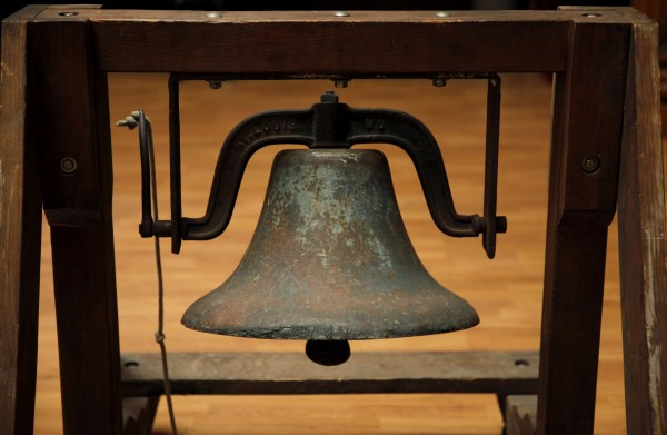 The historic Korbel Bell will be rung this Independence Day at 11 a.m., as it has been each year for the past half-century.  (BETH SCHLANKER/ The Press Democrat)