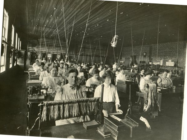 Women at work inside the Silk Mill, circa 1910. Photo courtesy of the Petaluma Museum.