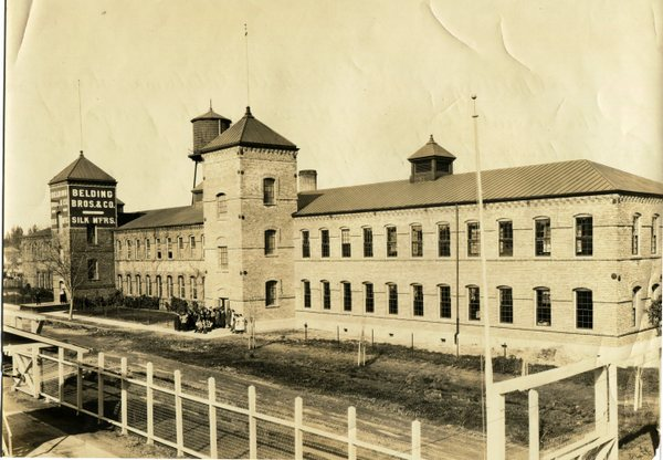The Silk Mill after 1922, when the second tower was added. Photo courtesy of the Petaluma Museum.