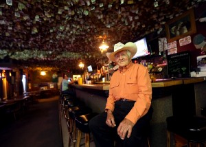 Ron Goodlund, 89, owns a farm a few miles up the road from the Washoe House where he has been a regular for 65 years.  The Washoe House.